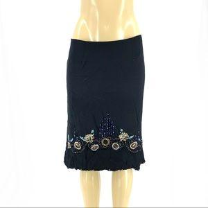New nanette lepore Silk Embellished Skirt